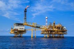Παράκτια πετρέλαιο και φυσικό αέριο βιομηχανίας Στοκ φωτογραφίες με δικαίωμα ελεύθερης χρήσης