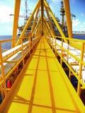 Παράκτια πετρέλαιο και φυσικό αέριο βιομηχανίας Στοκ εικόνες με δικαίωμα ελεύθερης χρήσης