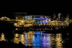 Παράκτια σκηνή νύχτας Galapagos στα νησιά, Ισημερινός Στοκ φωτογραφίες με δικαίωμα ελεύθερης χρήσης