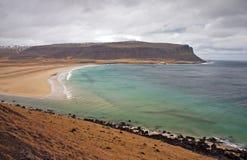 παράκτια σκηνή της Ισλανδί&al Στοκ Εικόνες