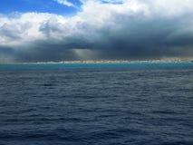 Παράκτια δυνατή βροχή Στοκ εικόνα με δικαίωμα ελεύθερης χρήσης