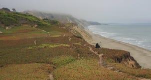 Παράκτιες απόψεις του Ειρηνικού Ωκεανού από το οχυρό Funston, χρυσή περιοχή αναψυχής πυλών εθνική, Καλιφόρνια, ΗΠΑ στοκ εικόνα με δικαίωμα ελεύθερης χρήσης