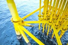 Παράκτιες πετρέλαιο βιομηχανίας και σωλήνωση πετρελαίου παραγωγής φυσικού αερίου Στοκ εικόνα με δικαίωμα ελεύθερης χρήσης