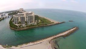 Παράκτιος κολπίσκος σε Boca Raton, Φλώριδα απόθεμα βίντεο