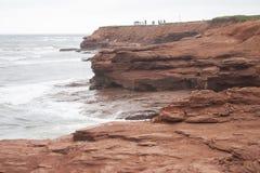 Παράκτιος κόκκινος βράχος Στοκ Εικόνα