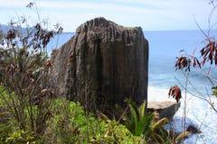 Παράκτιος σχηματισμός βράχου, Seyshelles Στοκ Εικόνες