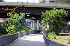 Παράκτιο έργο τέχνης τρόπων ποταμών Milers Στοκ εικόνες με δικαίωμα ελεύθερης χρήσης