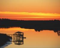 παράκτιο ηλιοβασίλεμα Στοκ Εικόνα
