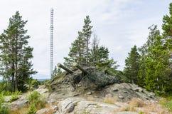 Παράκτιο πυροβολικό Hemso Ψυχρών Πολέμων Στοκ φωτογραφία με δικαίωμα ελεύθερης χρήσης