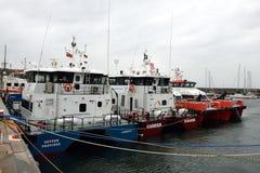 Παράκτιο σκάφος στο λιμάνι Helgoland Στοκ Εικόνες