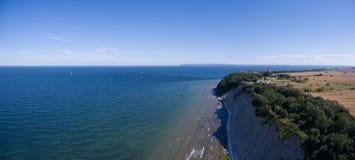 Παράκτιο τοπίο σε Kap Arkona στη θάλασσα της Βαλτικής νησιών Ruegen Στοκ εικόνες με δικαίωμα ελεύθερης χρήσης