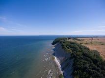 Παράκτιο τοπίο σε Kap Arkona στη θάλασσα της Βαλτικής νησιών Ruegen Στοκ εικόνα με δικαίωμα ελεύθερης χρήσης