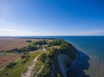 Παράκτιο τοπίο σε Kap Arkona στη θάλασσα της Βαλτικής νησιών Ruegen Στοκ Φωτογραφία