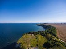 Παράκτιο τοπίο σε Kap Arkona στη θάλασσα της Βαλτικής νησιών Ruegen Στοκ φωτογραφία με δικαίωμα ελεύθερης χρήσης