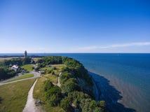 Παράκτιο τοπίο σε Kap Arkona στη θάλασσα της Βαλτικής νησιών Ruegen Στοκ Εικόνα