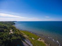 Παράκτιο τοπίο σε Kap Arkona στη θάλασσα της Βαλτικής νησιών Ruegen Στοκ Φωτογραφίες