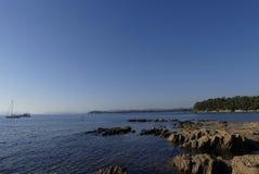Παράκτιο τοπίο του νότου της Γαλλίας Στοκ Εικόνες