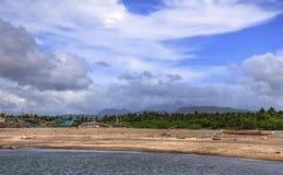 παράκτιο τοπίο φιλιππινέζι Στοκ Εικόνες