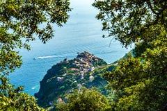 Παράκτιο χωριό σε Cinque Terre Ιταλία στοκ φωτογραφίες