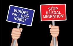 Παράνομη μετανάστευση στάσεων Στοκ Φωτογραφία