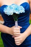 Παράνυμφος με τα λουλούδια Στοκ εικόνα με δικαίωμα ελεύθερης χρήσης