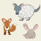 Παράξενα δασικά ζώα καθορισμένα Στοκ Εικόνες