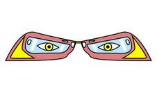 Παράξενα γυαλιά ελεύθερη απεικόνιση δικαιώματος