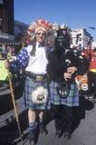 Παράξενα σκωτσέζικα μέλη συμμορίας στην παρέλαση Doo Dah, Πασαντένα, Καλιφόρνια Στοκ Φωτογραφία