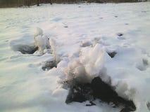 Παράξενα snowdrifts Στοκ Φωτογραφία
