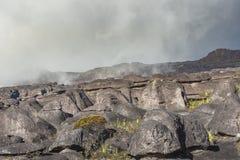 Παράξενοι αρχαίοι βράχοι του tepui Roraima οροπέδιων - Βενεζουέλα, Στοκ Εικόνα