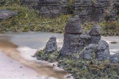 Παράξενοι αρχαίοι βράχοι του tepui Roraima οροπέδιων - Βενεζουέλα, Στοκ εικόνα με δικαίωμα ελεύθερης χρήσης