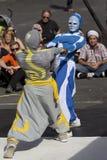 Παράξενοι καλυμμένοι χορευτές Στοκ εικόνα με δικαίωμα ελεύθερης χρήσης