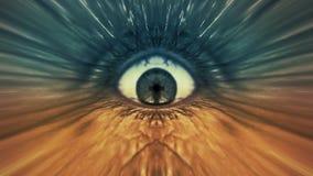 Παράξενο παλαιό μάτι ατόμων zombie διανυσματική απεικόνιση