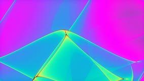 Παράφρον ζωηρόχρωμος αφηρημένος τηλεοπτικός βρόχος υποβάθρου λάβας 4k 60fps διανυσματική απεικόνιση