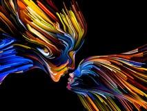Παράδειγμα της ζωγραφικής μυαλού στοκ εικόνες με δικαίωμα ελεύθερης χρήσης