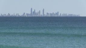 Παράδεισος Surfer ` s που βλέπει από Coolangatta απόθεμα βίντεο