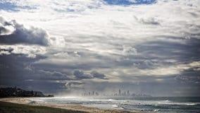 Παράδεισος Surfers από μακρυά στοκ φωτογραφία με δικαίωμα ελεύθερης χρήσης