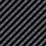 Παράλληλες διαγώνιες γραμμές Ασημένια τσέκια αστέρια Στοκ Εικόνα