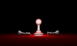 παράδοξο Μεταφορά σκακιού δύναμης και αδυναμίας τρισδιάστατος δώστε το illus Στοκ Εικόνες