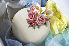παράδοση κέικ κιβωτίων Στοκ φωτογραφία με δικαίωμα ελεύθερης χρήσης