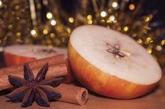 Παράδοση μήλων ημέρας των Χριστουγέννων στοκ εικόνες