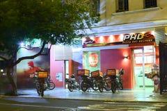 Παράδοση της Pizza Hut σε Miraflores, Λίμα, Περού Στοκ φωτογραφία με δικαίωμα ελεύθερης χρήσης