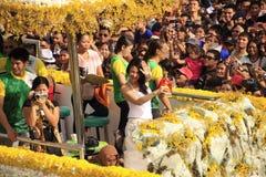 παρέλαση εορτασμού του Κεμπού sinulog Στοκ Φωτογραφία