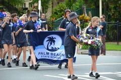 Παρέλαση ημέρας Anzac σε Corrumbin, Palm Beach στην Αυστραλία 2019 στοκ φωτογραφία