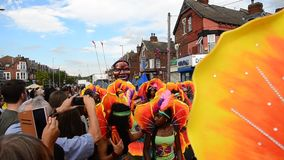 Παρέλαση του Λιντς καρναβάλι, chapeltown Λιντς απόθεμα βίντεο