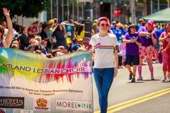 Παρέλαση 2019 υπερηφάνειας του Πόρτλαντ στοκ εικόνες