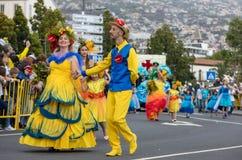 Παρέλαση φεστιβάλ λουλουδιών της Μαδέρας στο Φουνκάλ στο νησί της Μαδέρας Πορτογαλία Στοκ φωτογραφίες με δικαίωμα ελεύθερης χρήσης