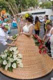 Παρέλαση φεστιβάλ λουλουδιών της Μαδέρας στο Φουνκάλ στο νησί της Μαδέρας Πορτογαλία Στοκ Εικόνα