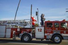 Παρέλαση Χριστουγέννων Highland Park Στοκ φωτογραφία με δικαίωμα ελεύθερης χρήσης