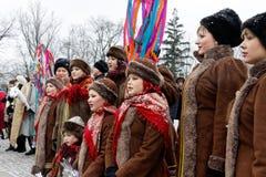 Παρέλαση Nativity Verteps Στοκ φωτογραφίες με δικαίωμα ελεύθερης χρήσης